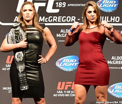 Bethe Correia ronda rousey fight 400x343 Ronda Rousey BIG UFC FIGHT TONIGHT! How To Watch FREE