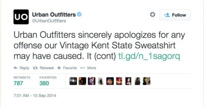 Boycott Urban Outfitters kent state 3