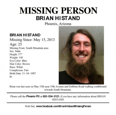 Brian Histand missing poster
