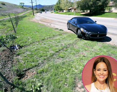 Brooke Burke Crashes Maserati
