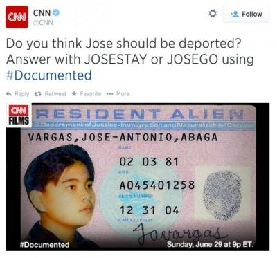 CNN Immigration Tweet dockumented