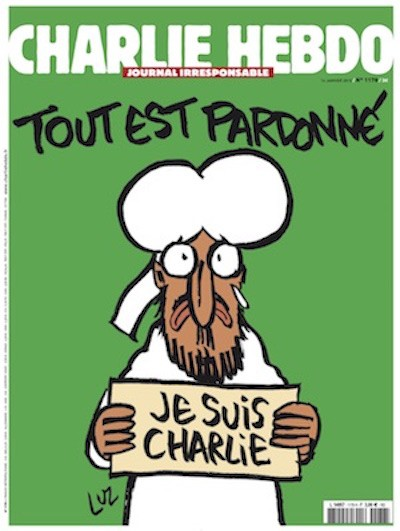 Charlie Hebdo Prophet Muhammad crying cover