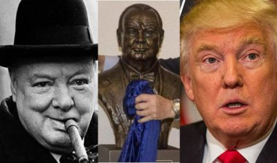 churchill-bust-donald-trump-replaced
