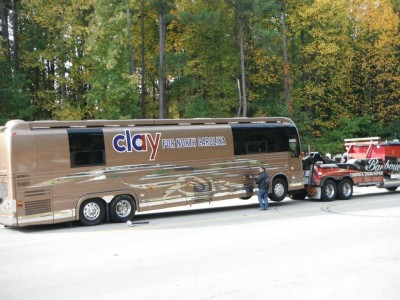Clay Aiken Tour Bus BREAKS DOWN On Election Day
