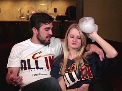 Cleveland Cavaliers Video Domestic Violence 4 400x297 Cleveland Cavaliers SHAMEFUL Promo Video Promotes Domestic Violence