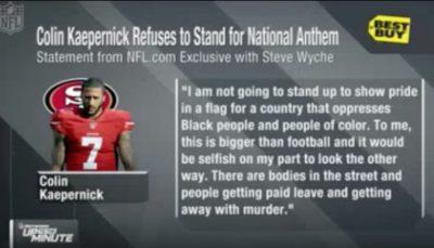 Colin Kaepernick disrespect national statement