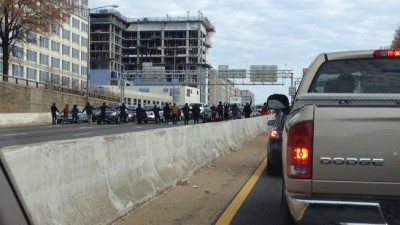 DC I-395 BLOCKED  protest