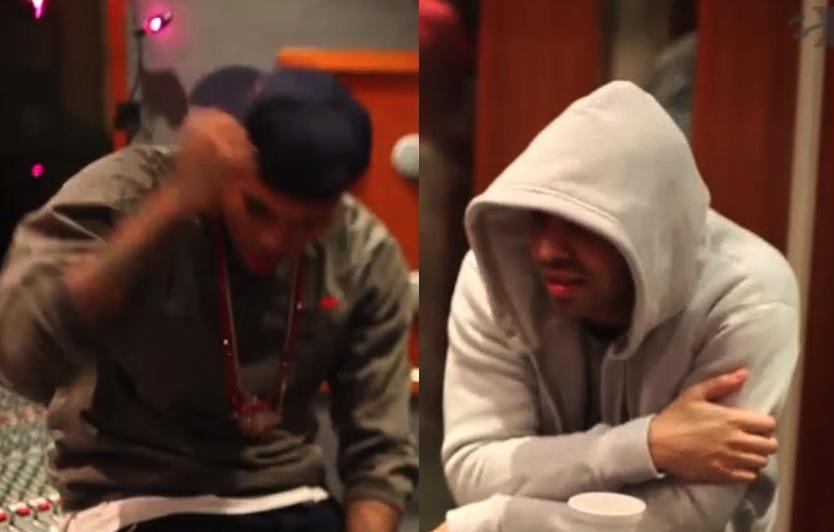 Drake-and-Chris-Brown-studio