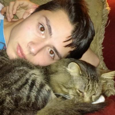 Draven Rodriguez laser cat yearbook