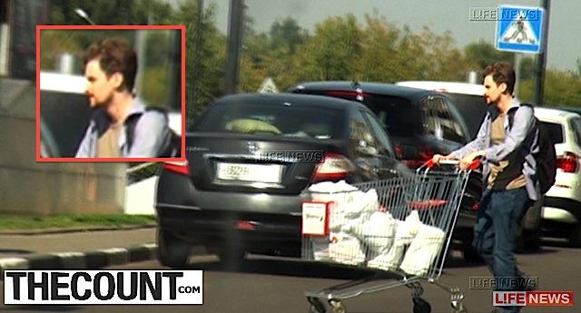 Edward Snowden grocery shopping