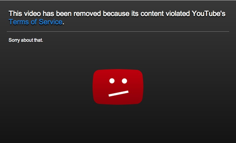 Eliot Roger Youtube video removed
