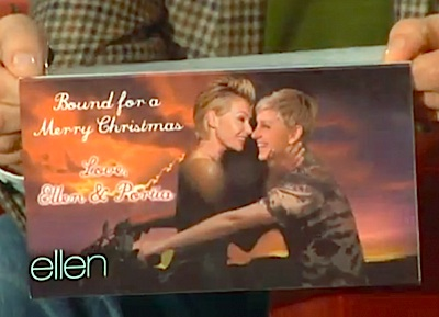 Ellen DeGeneres and Portia de Rossi's new Christmas card