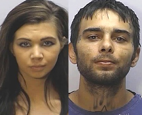 Elvis Allen Boswell 24 And Eden Brianna 22 The That Eared On A Tlc Reality Show My Fat American Gypsy Wedding Were Arrested