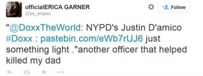 Eric Garner Daughter Tweets Out Cops ADDRESS