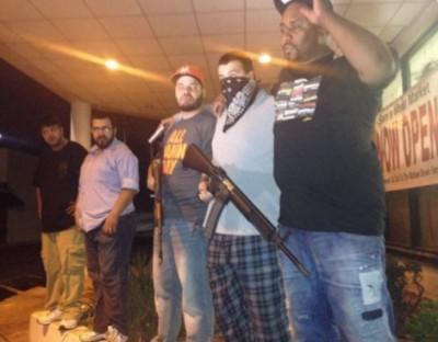 Ferguson Businesses BOARD UP WINDOWS As TANKS ROLL IN TOWN 6