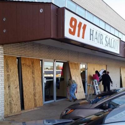 Ferguson Businesses BOARD UP WINDOWS As TANKS ROLL IN TOWN