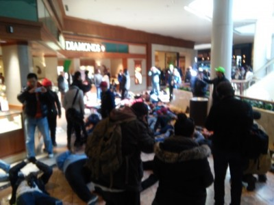 Ferguson Protesters Take Over MALL 4