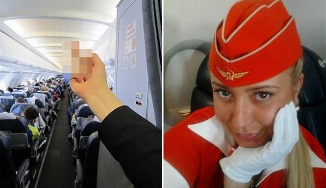 Flight-Attendant-Fired-For-Finger