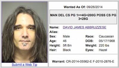 Former Pearl Jam drummer Dave Abbruzzese 2