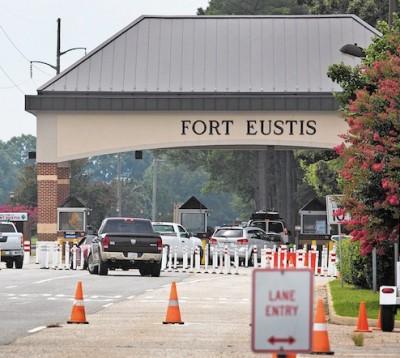 Fort Eustis near building 650 lockdown
