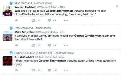 George Zimmerman gun trayvon martin tweets