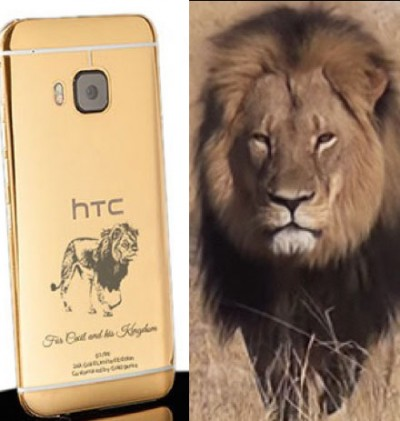 Goldgenie cecil the lion cellphone 400x421 SHAMELESS? Company Selling Gold CECIL THE LION Cellphone