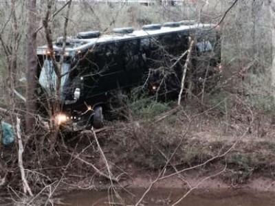 Gregg Allman tour bus crash accident scene va