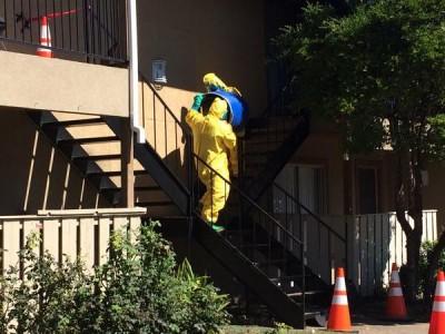 Hazmat team Thomas Duncan Ebola patient apartment 2