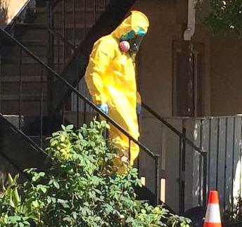 Hazmat team Thomas Duncan Ebola patient apartment4