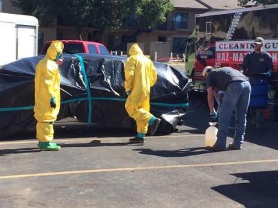 Hazmat team Thomas Duncan Ebola patient apartment 5