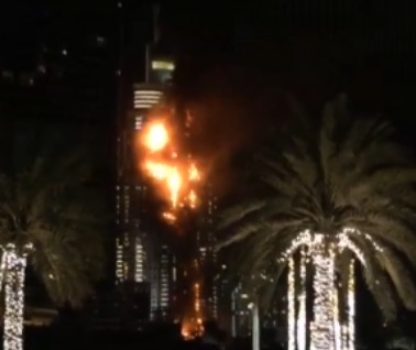 High-Rise Fire In Dubai