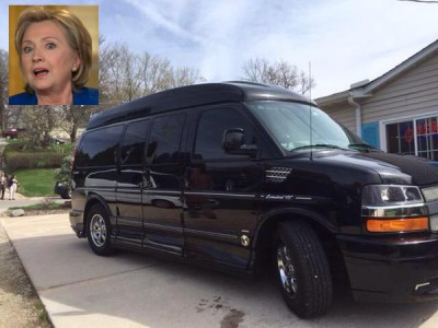 Hillary Clinton MYSTERY MACHINE