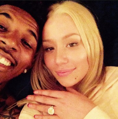 Iggy Azalea nick young engaged 400x401 Swaggy P PROPOSES! Iggy Azalea Accepts! Wedding Bells Ring!