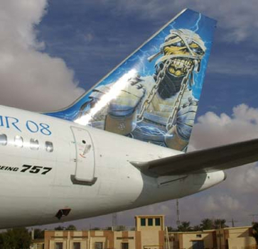 Iron Maiden Jet Ed Force One injured