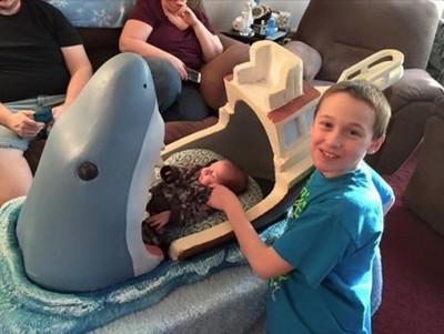 JAWS themed crib 2