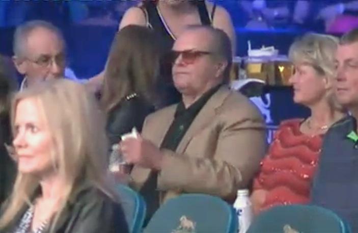Jack Nicholson Pacquiao vs Bradley mystery woman1 Jack Nicholson Spotted With Mystery Woman At Pacquiao vs Bradley