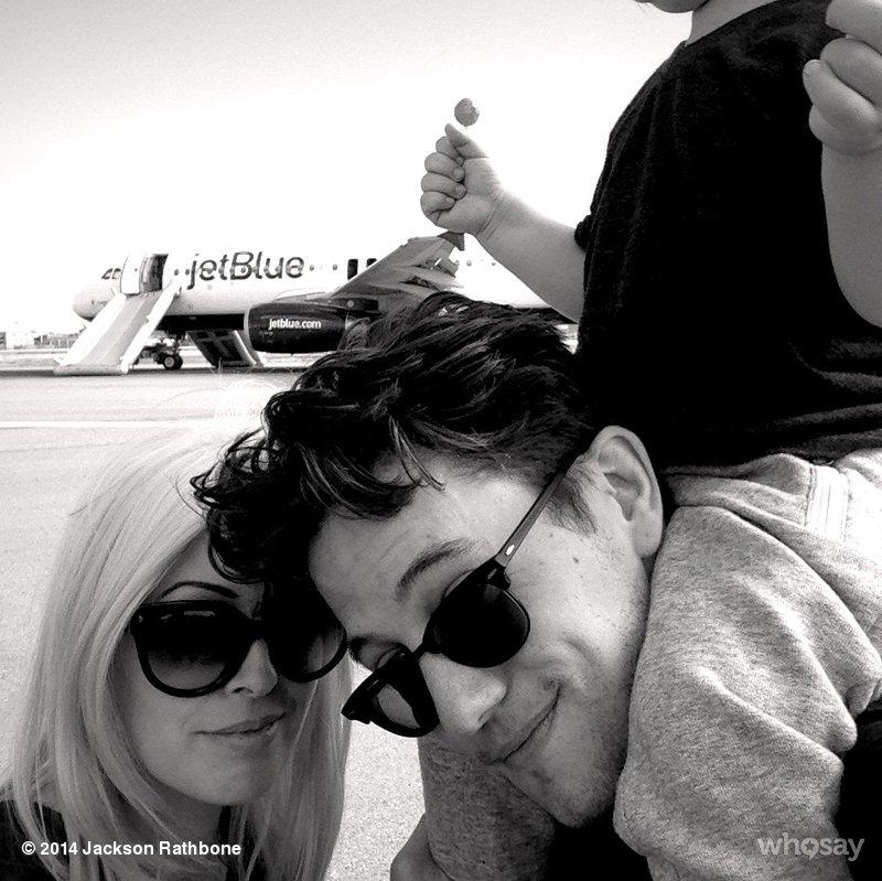 High drama: Twilight actor tweets of plane engine