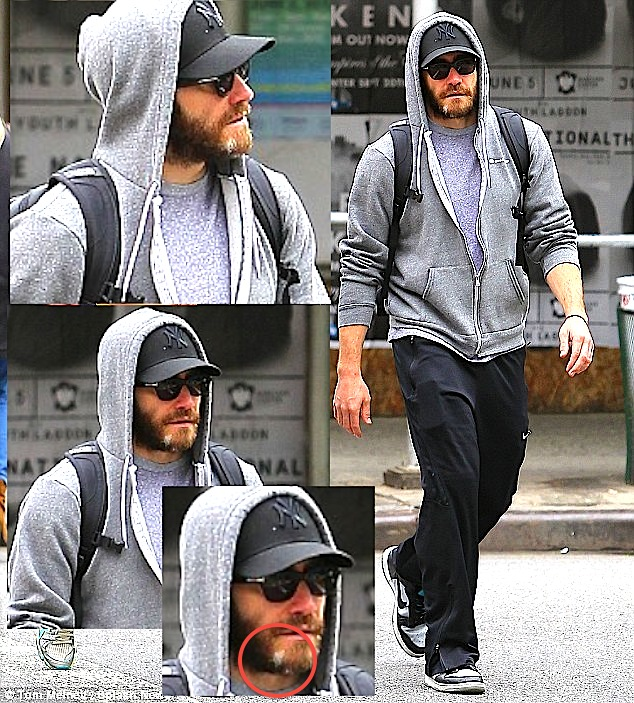 Jake Gyllenhaal 1 Jake Gyllenhaal WEIRD Gray Patch Beard!