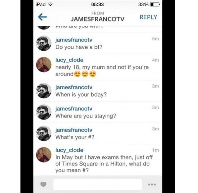 James Franco text