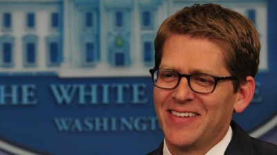 White House spokesman Jay Carney gives t
