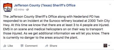 Jefferson County (Texas) Sheriff's Office sunoco