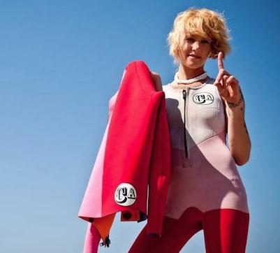 Jill Hansen california Candy Wetsuits
