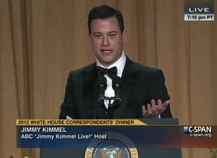 JimmyKimmelwhdinner Jimmy Kimmel Unleashed On Leno: Master Chef Who Opened a Burger King