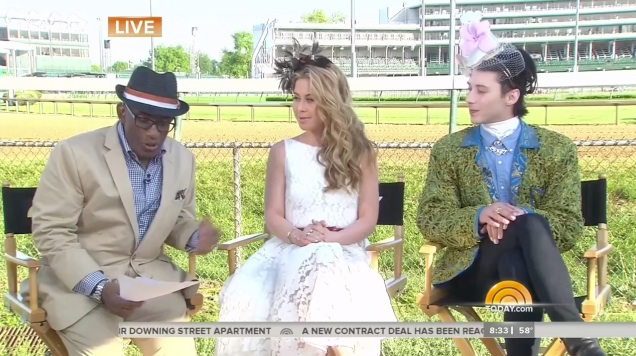 Johnny Weir Tara Lipinski Today Show  Kentucky Derby fashion