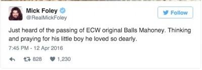 Jonathan Rechner, aka, Balls Mahoney mick foley
