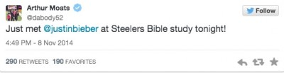 Justin Bieber Bible Study Pittsburgh Steelers 6