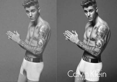 Justin Bieber Calvin Klein  Photoshop