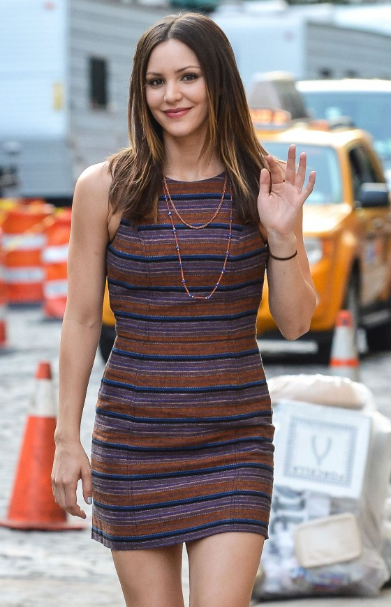 Katharine McPhee Looking Tight In Stripes