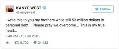 Kanye West $53M In Debt