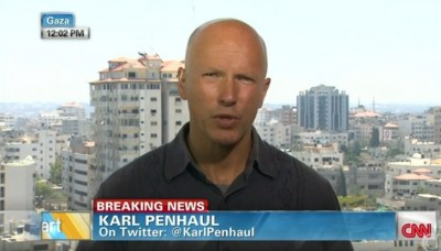 Karl Penhaul building bombing Gaza Strip 2